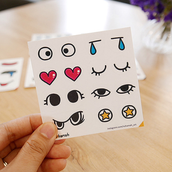 Funny face sticker 눈코입스티커